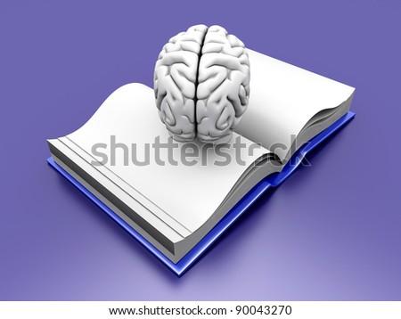 Psychologic / Psychiatric / Neurologic literature. 3d rendered Illustration. - stock photo