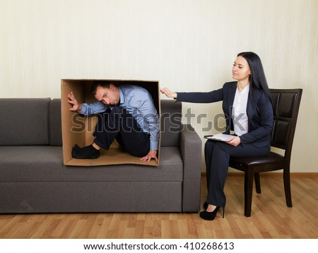 Psychotherapy - humorous concept photo