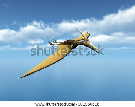 Pteranodon Ingens Computer generated 3D illustration - stock photo