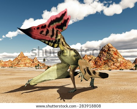 Pterosaur Thalassodromeus Computer generated 3D illustration - stock photo