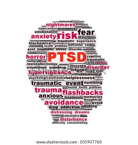 PTSD symbol design isolated on white background. Anxiety disorder symbol design - stock photo