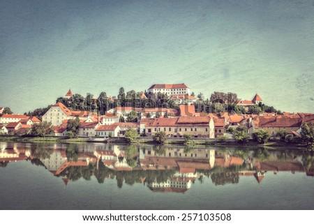 Ptuj, Slovenia. Vintage style photo - stock photo