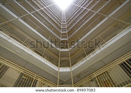 public apartments building - stock photo