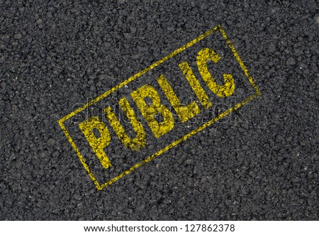 Public background - stock photo