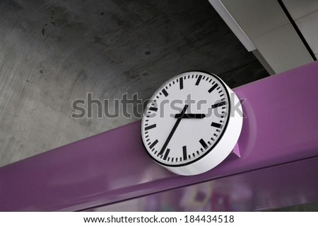 Public clock- BTS station in Bangkok, Clock in the afternoon