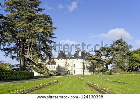 Public domain French  castle in forest. Sunny day