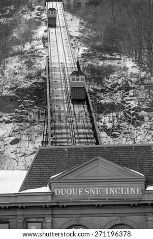 Public Duquesne Incline in Pittsburgh - stock photo