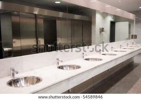 Public Bathroom Mirror woman bathroom mirror stock images, royalty-free images & vectors