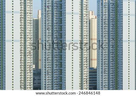 Public estate in Hong Kong - stock photo
