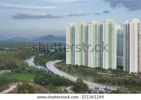 Public Estate in Hong Kong  - stock photo