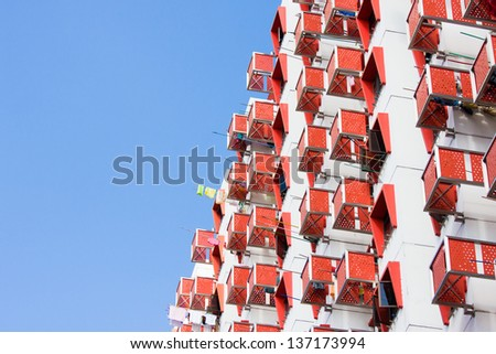 Public Housing Apartment in Singapore - stock photo