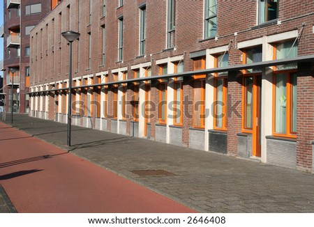 Public housing apartments in a modern suburb - stock photo