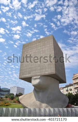 Public library building in Nice, France. - stock photo