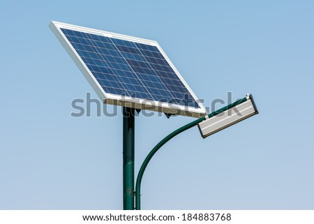 Public Light Post Powered By Solar Energy