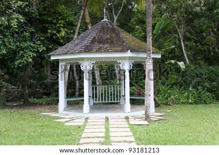 public park in Ocho Rios - stock photo