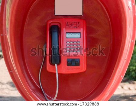 Public phone - stock photo