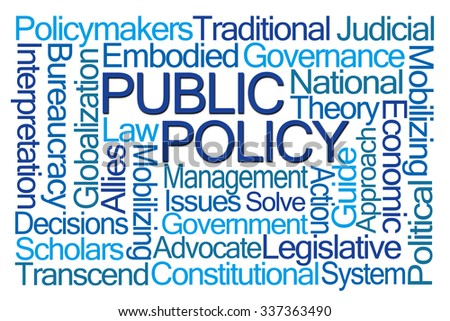 Public Policy Word Cloud on White Background - stock photo