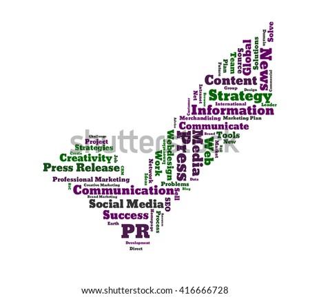 Public Relation word cloud - stock photo