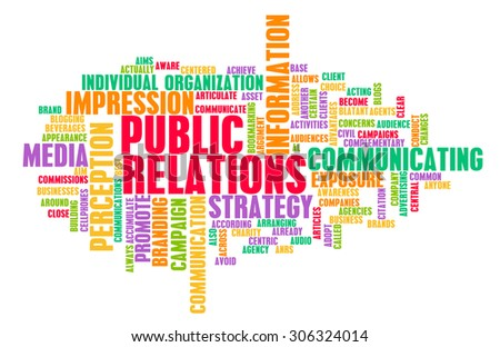 Public Relations or PR as a Marketing Concept - stock photo