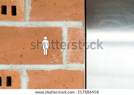 Public Restroom For Women Sign - stock photo