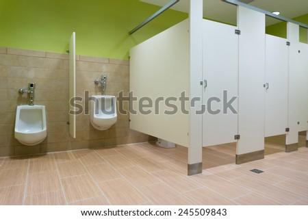 Public restroom with urinals