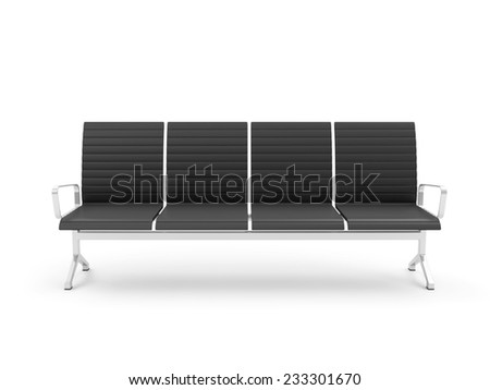 Public Seats isolated on white background - stock photo