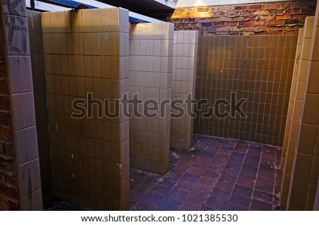 Public Shower Cubicles Beach Showers Bathroom Stock Photo (Royalty ...