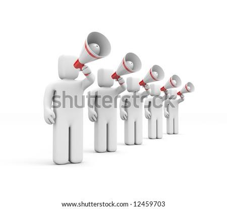 Public speakers - stock photo