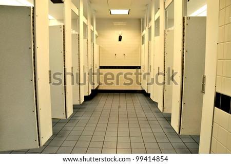 Public washroom facilities - stock photo