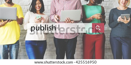 Publish Issue Post Distribute Article Concept - stock photo