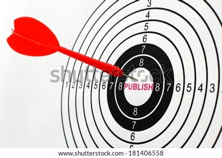 Publish target - stock photo