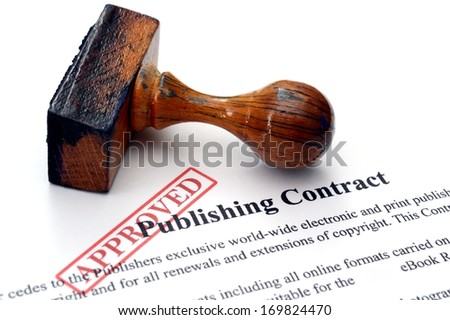 Publishing contract - approved - stock photo