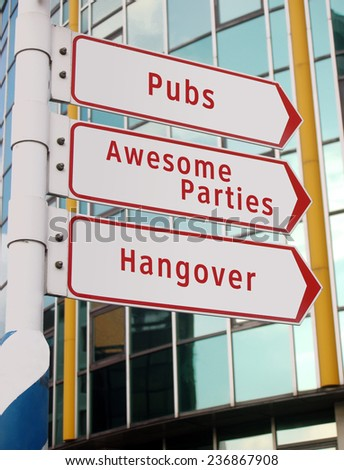 pubs and parties sign - stock photo
