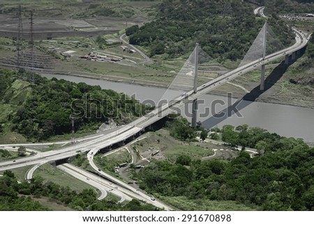 Puente Centenario, Panama's Centennial Bridge  - stock photo