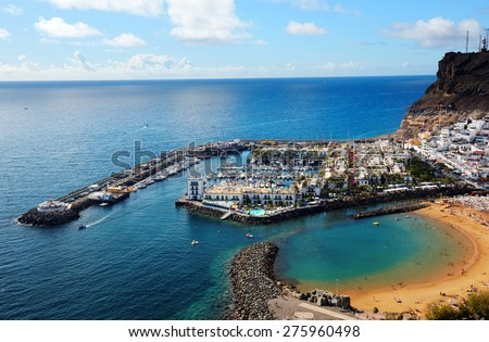 Puerto de Mogan in Gran Canaria, Spain, Europe - stock photo