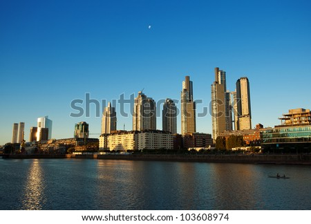 Puerto Madero in Buenos Aires Argentina - stock photo