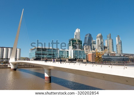 Puerto Madero modern and historic part of the town of Buenos Aires Argentina - stock photo