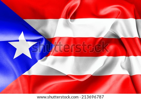 Puerto Rican flag texture crumpled up