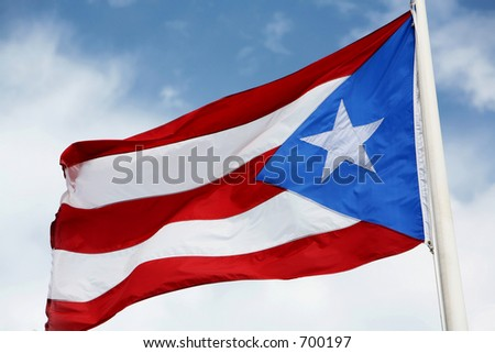 Puerto Rico Flag - stock photo