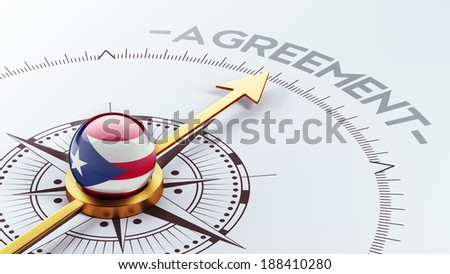 Puerto Rico High Resolution Agreement Concept - stock photo