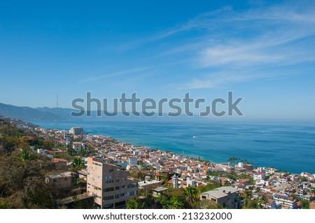 Puerto Vallarta panoramic view - stock photo