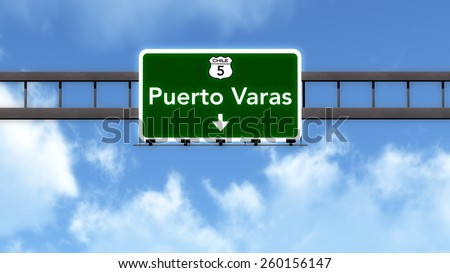 Puerto Varas Chile Highway Road Sign