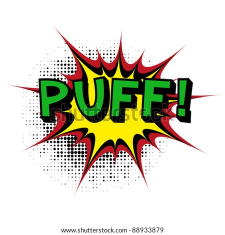 Puff. Comic book explosion. Vector version available in my gallery.