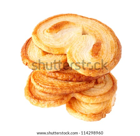 Puff pastry cookies - stock photo