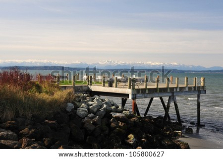 Puget Sound from Alki Point, Seattle