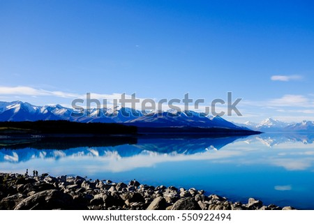 New zealand landmarks stock images royalty free images vectors pukaki new zealand october 22 2016 tourists enjoy taking photos of a toneelgroepblik Choice Image