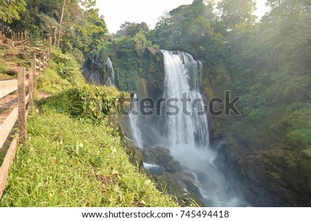 Pulhapanzak waterfalls in the Lake Yojoa region in Honduras. Central America