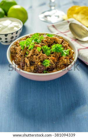 Pulled pork in a bowl ready to be eaten