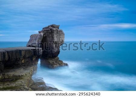 Pulpit Rock  at Isle of Portland, Dorset - stock photo
