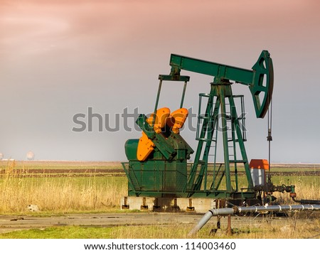 Pump-jack - stock photo